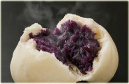 種子島産の紫芋まん
